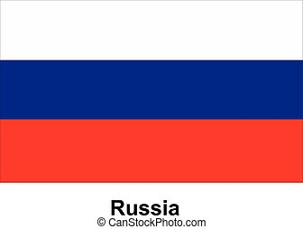 Vector image of flag Russia