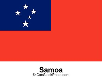 Vector image of flag Samoa