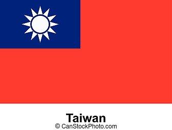 Vector image of flag Taiwan