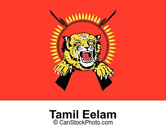 Vector image of flag Tamil Eelam