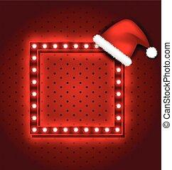 Christmas retro sign