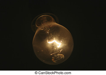 incandescent lamp - Burning incandescent lamp light bulb on...
