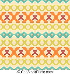 Seamless knitted pattern in vintage colors