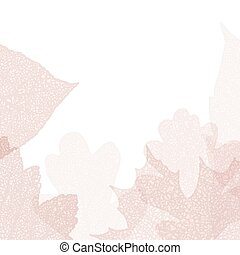 Detailed leaves seamless background EPS 10 vector file...
