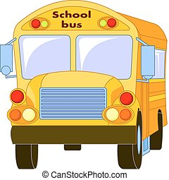 Yellow School Bus - Clipart Illustration of a Yellow School...
