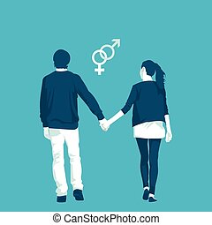 LGBT community is the traditional orientation in vector...