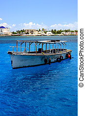 Old Fishing Boat - Old fishing boat just off the Yucatan...