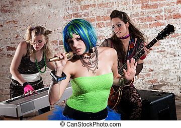 Female punk rock band - Young all girl punk rock band...