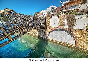 small bridge in Poltu Quatu, Sardinia