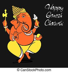 happy ganesh chaturthi card design - happy ganesh chaturthi...