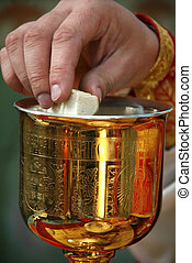 Orthodox - LUTSK, UKRAINE - NOVEMBER 02 - Hands of priest...