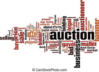 Auction word cloud concept Vector illustration