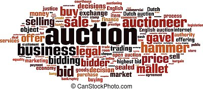 Auction-horizoneps - Auction word cloud concept Vector...