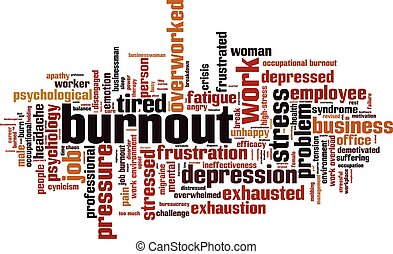 Burnouteps - Burnout word cloud concept Vector illustration...