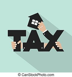 Home Tax Typography Design Vector