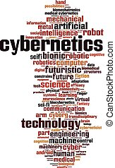 Cybernetics-verticaleps - Cybernetics word cloud concept...