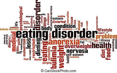 Eating disorder.eps - Eating disorder word cloud concept....