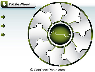 Puzzle Wheel Chart