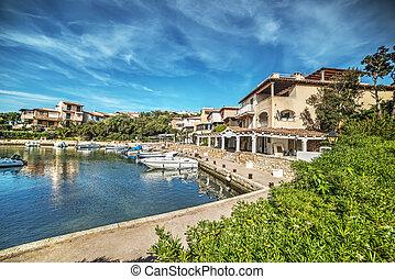 Porto Rotondo harbor in Costa Smeralda, Sardinia