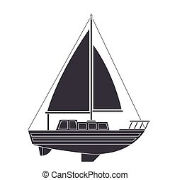 sail boat transport icon