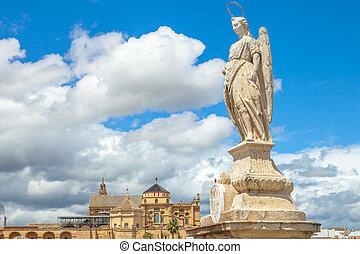 San Rafael Archangel Cordoba - San Rafael Archangel statue...