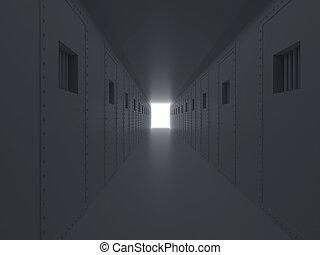 alto, resolución, imagen, prisión, 3D,...
