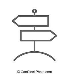 Signpost vector flat icon