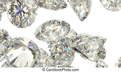 Diamonds scatter with slow motion alpha