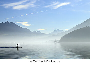 Annecy lake in France - quiet landscape of Annecy lake in...