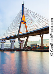 Suspension Bridge over Watergate, Bangkok Thailand