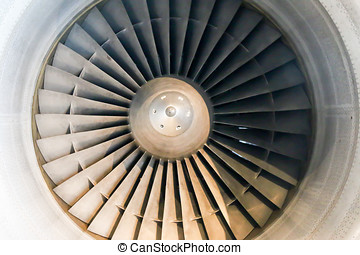 Front view of Jet engine Intake