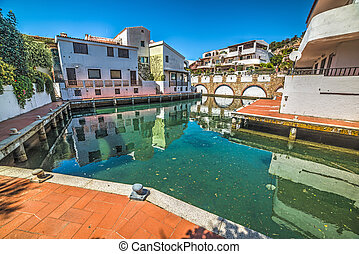 Poltu Quatu dock in Costa Smeralda, Sardinia