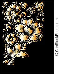 Russian folk art Khokhloma. The theme for greeting cards and...