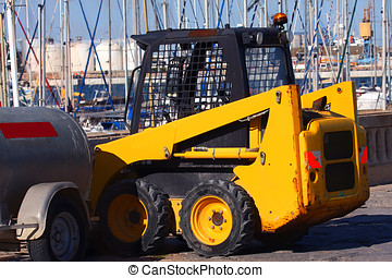 Front loader - a small front-end loader at the port