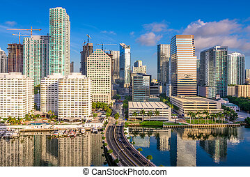 Miami Florida Cityscape - Miami, Florida, USA downtown...