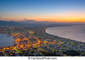 Hokkaido, Japan Skyline - Hakodate, Hokkaido, Japan city...
