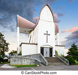 Church in Hakodate, Japan - Hakodate, Hokkaido, Japan at...