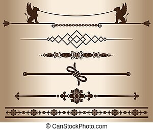 Decorative elements - sphinx - Design elements - decorative...