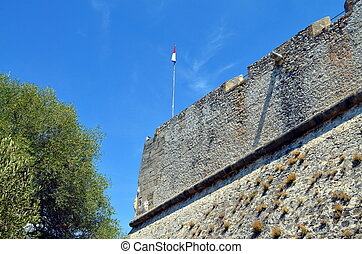 fortress of antibes, france with blue sky