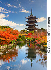 Toji Pagoda in Japan - Kyoto, Japan at Toji Pagoda in...