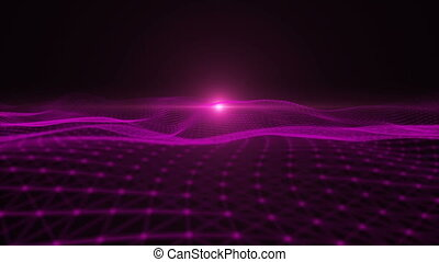 Looping Abstract wave background Full HD Resolution...