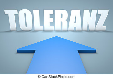 Toleranz - german word for tolerance - 3d render concept of...