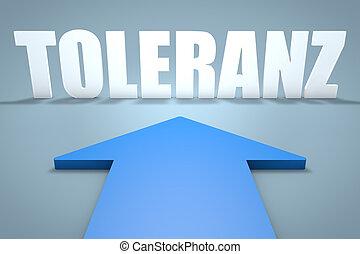 Toleranz - german word for tolerance - 3d render concept of...