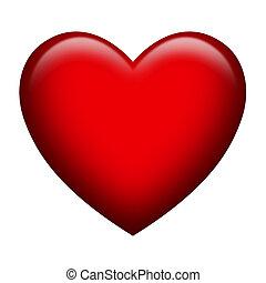 rosso, cuore