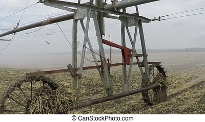 Automated agricultural center pivot irrigation system with...