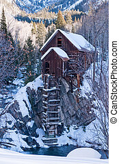 Winter The Crystal Mill - Iconic Mining-era building in...