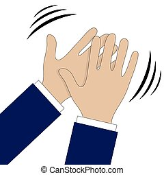 Hands clapping symbol Vector icons for video, mobile apps,...