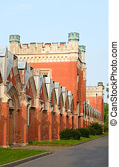 Imperial stables in Petergof. - Imperial stables built in...