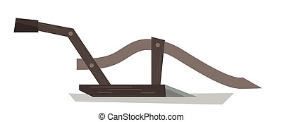 Agricultural manual plow vector illustration. - Agricultural...