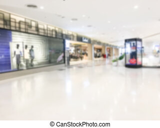 Blur shopping mall - Abstract blur luxury retail and...